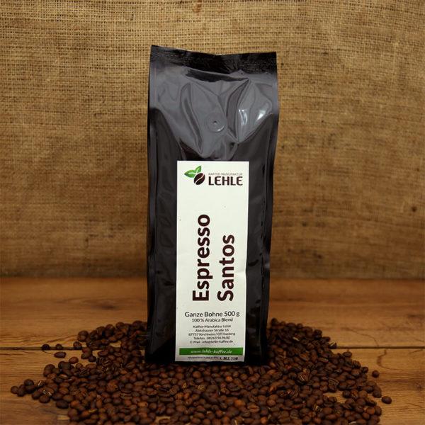 Kaffee-Manufaktur Lehle - Espresso Santos Verpackung